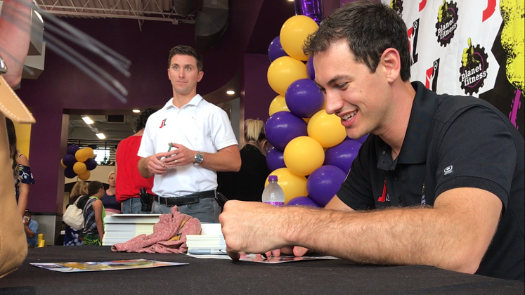 Joey Logano Autographs Planet Fitness Penfield NY
