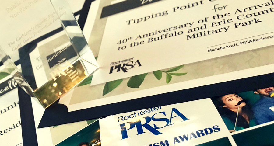 tipping point communications wins public relations PRism Awards in Rochester New York