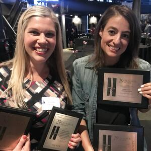 Tipping Point Communication's PR Executives with awards
